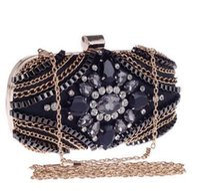 Wholesale Grade Acrylic Bead - Women European And American High-Grade Acrylic Bead Flap Clutch Bags Lady Shoulder Bag Evening Bags 2016 New Beautiful HuiLin KY27