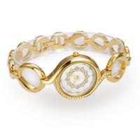 Wholesale Oro Jewelry - ocasional de las mujeres relojes de oro relojes de diamantes de estilo romano resistente al agua aleación de acero inoxidable movimiento jap
