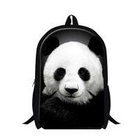 Wholesale Panda Shoulder Bag Black - New Design Animal Children School Bags Chinese Element Panda 3D Printed Womens Mens Shoulder Backpack Fashion Student Schoolbag