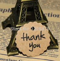 40mm gros-Creative Merci série Round Flower conception bricolage cadeau Tag / Bridal Shower Favor Tag / mariage Tags / prix Tag
