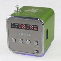 усилитель громкоговорителей для компьютера оптовых-Портативный HIFI мини-динамик MP3-плеер усилитель Micro SD TF карта USB диск компьютер динамик с FM-радио