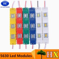 Vente en gros-Hot Vente DC12V 5630 SMD 3 LED Module Injection étanche décoratif Hard Strip Bar Light Lampe Blanc Rouge Vert Jaune Bleu