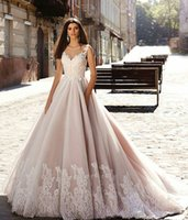 Wholesale Cheap Anna Campbell Dresses - A Line Cheap Anna Campbell Berta Country Vintage Style Colorful Wedding Dresses 2017 Tulle Wedding Gowns