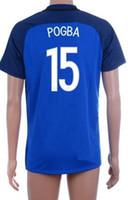 Wholesale Wholesale Athletics Shorts - Thai Quality Customized 16-17 new season men home 15 POGBA Soccer Jerseys,Cheap discount men Athletic Outdoor 10 GIGNAC 10 ZIDANE wear