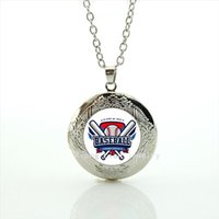 Wholesale Baseball Rhinestone Jewelry Necklaces - New fashion American football picture locket necklace Baseball jewelry football sport accessory for men and boys NF048