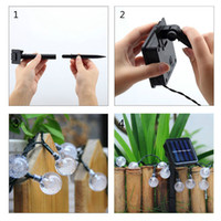 WaterProof 50 LEDs Lâmpadas solares Power LED String Garlands Lights Outdoor Garden christmas String Lights Party Lamps
