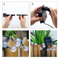 Wholesale Solar Garden Decorative Light - WaterProof 50 LEDs Solar Lamps Power LED String Garlands Lights Outdoor Garden christmas String Lights Party Lamps