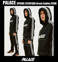 Wholesale High Collar Hoodies - palace skateboard high quality 3m reflective hoodie and trousers i feel like pablo justin bieber Yeezus sports Suit