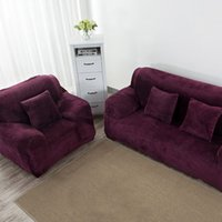 Wholesale Plush Couches - High Quality Comfy Plush Slipcover Full Coverage Soft Fabric Cover Sofa Couch Cover for Home Furniture Protector JC0242