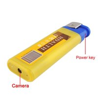 Wholesale Wholesale Security Equipment - Lighter Hidden Spy Camera Spy equipment Nanny Cams Secret Cameras Mini Video Security Camera Hidden Surveillance Cameras