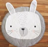 Wholesale Carpets Rabbit - INS Crawling mat baby soft cute rabbit lion game nap mat newborn kids cartoon animal carpet babies room decoration R0489
