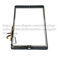 Wholesale Glue Buttons - Top Quality For iPad air 1 for iPad 5 Touch Screen Glass Digitizer Assembly with Home Button& Adhesive Glue Sticker Replacement A1474 A1475