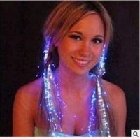 Wholesale Women Toys Clip - LED Flash Braid Women Colorful Luminous Hair Clips Barrette Fiber Hairpin Light Up Party Halloween Bar Night Xmas Toys Decor CCA5117 1200pcs