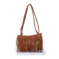Wholesale Suede Purse Fringe Wholesale - Hot Sales Fashion Women tassels Fringe Faux Suede Shoulder Messenger Cross body Bag Handbag Purse PU Leather (Bx7) Free Shipping