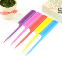 Wholesale New Hair Styling Hairdressing Candy colors pointed tail pick long tail Makeup comb minute comb hair tools