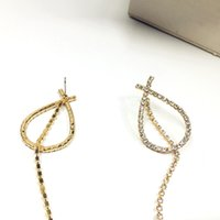 Wholesale Korean Personality Studs - Korean American exaggerated personality hypoallergenic stone ultra high quality imported flash one bar all-match wedding Earrings