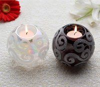 Wholesale Decorating Glass Cups - Crystal Glass Candle Holder European-Style Candlelight Creative Wedding Candle Cup Prop Decorate The Table Furnishing Article Candle Holders