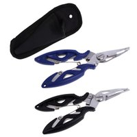 Wholesale Fishing Tackle Wholesalers - Fishing Multifunctional Plier Stainles Steel Carp Fishing Accessories Fish Tackle Lure Hook Remover Line Cutter Scissors Black
