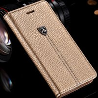 Wholesale Luxury Leather I Phone Covers - FLOVEME Vogue Noble Flip Leather Case For Apple iphone 6 6S 4.7inch Luxury Wallet Stand Insert Card Slot Phone Cover i 6 Smaller