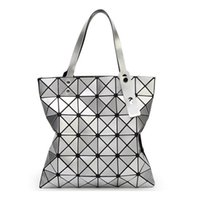 Wholesale Sequin Fold - Hot 2017 Famous Brands Women BaoBao Bag Geometry Sequins Mirror Saser Plain Folding Bags Luminous Handbags PU Casual Tote Bao Bao Package
