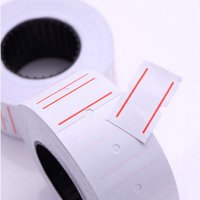 Wholesale Tags Stickers Wholesale - New 10 Rolls Useful Paper Tag Price Label Sticker Single Row Denominated paper Business Free Shipping Adhesive Stickers Papelaria