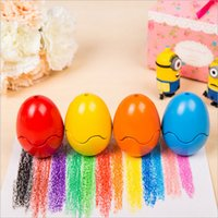 Wholesale Crayons Toxic - Wholesale-Crayon lab 6 10 Color Egg Crayon Set Eatable Crayon Fun Painting Toys Wax Crayon Non-toxic Eraseable
