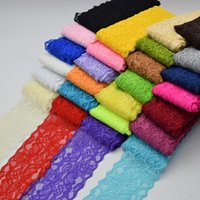 Wholesale Wide Stretch Lace Headband - 9.5Yards Beautiful Lace Stretch Floral Lingerie Headband Elastic DIY lace wide:8cm 26colors