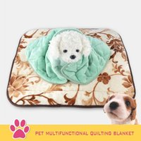Nouveau All Seasons Flannel Cloth Pet Multifunctional Quilting Blanket As Small Medium Large Dog Dog Dog Toile Quilt et Coussin