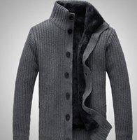 Wholesale Cardigans Sweaters For Men - Wholesale-2015 latest blue black grey brown 4 colors men's stone cardigans for men, Knitwear, SI sweater, Free shipping!!!