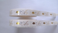 Gold foil labels Hot stamping stickers waterproof Custom printing on rolls High quality