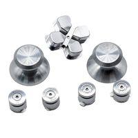 Wholesale ps4 controller buttons resale online - Aluminum Metal Bullet ABXY Button Thumb Sticks Grips Chrome D pad for PS4 DualShock Controller Mod Kit Replacement Buttons