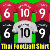 Wholesale Man United Shirt - Thai quality POGBA soccer shirts 2017 2018 Man Utd soccer jerseys 17 18 football shirt IBRAHIMOVIC RASHFORD MKHITARYAN LUKAKU JERSEY united