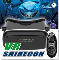 Wholesale 3d Glasses Pc Games - Vr Shinecon 3d Glasses For Pc Games movies xbox With Blue Tooth Remote Vr 3d Glasses Virtual Reality for 4~5.7 inch Smartphones for 3D Movie