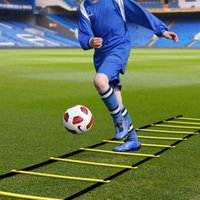 футбольная стрельба оптовых-Скорость лестница футбол обучение ловкость лестница прочные плоские ступеньки для футбола фитнес ноги обучение фитнес-оборудование