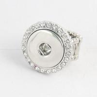 Wholesale Auger Ring - 18 mm set auger Noosa DIY ring snap button elastic ring