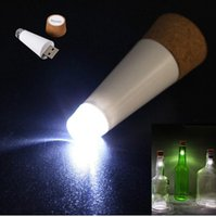 Wholesale Christmas Bottle Designs - New Fashion Design Romantic Cork Shaped Empty Bottle Plug Light Suck Bottle Light Rechargeable USB Bottle Cork Top Wine Lamp LED Lighting