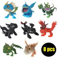Wholesale Toys Trains Set - 100set Full Set 8 Pcs Juguetes How To Train Your Dragon Night Fury Toothless figurines kids toys toothless dragon toys