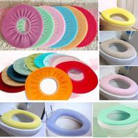 Wholesale washable toilet seat warmer - Soft Seat Cover Pads Bathroom Warmer Toilet Closestool Washable E00002 BAR