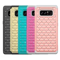 Wholesale Galaxy Glitter Cases - For Note 8 Case Luxury Bling Glitter Diamond Hybrid Defender Rugged Soft Silicone Case Cover For Samsung Galaxy Note 8