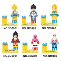 Wholesale Dragon Ball Z Mini Toys - Building Blocks Super Heroes Avengers Dragon Ball Z Minifigures Super saiyan Goku Bricks Figures Toys Mini Figures