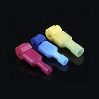 Wholesale T Type Connector - 50 piece lot Yellow red blue T-type free break line main line branch wiring clip connector