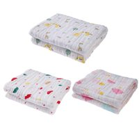 Wholesale gauze blankets - Wholesale- New 6 Layers Cotton Baby Blankets Newborn Wrap Gauze Infant Bath Towel 100%Cotton Infant Soft Baby Bath Towel