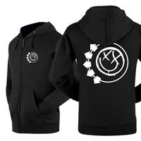 Wholesale Blink 182 - Wholesale-American famous punk band aliens existy new winner autumn hot sell classics zipper LEISURE WEAR lover`s hoodie blink 182