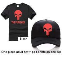 Wholesale Men S Luminous Shirt - XS-3XL size Adult Free Custom LOGO Army Green T-shirt The Punisher 3D Printed Men T Shirts hat one set Reflective or Luminous