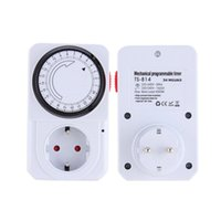 Wholesale Power Plug Timer - New EU Plug 24 Hour Programmable Mechanical Electrical Plug Program Timer Power Switch Energy Saver