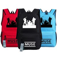 Wholesale Rock Band Bag - Muse band backpack Rock Fans school bag Music player daypack Quality schoolbag Nylon rucksack New day pack