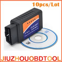 Wholesale Elm Wifi Obd2 - 10pcs ELM327 WIFI Connection OBD2 Auto Code Reader WI-FI Connection Supports iOS Phone OBD2 Diagnostic Scanner Tool ELM 327