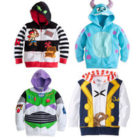 Wholesale Track Suits Jackets - Kid boy jacket Jake and the Neverland Pirates Monster University  TOY3 boy boys Hooded coat top outwear track suits
