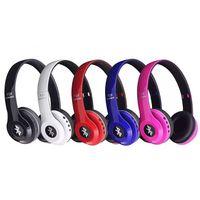 Wholesale Lg Hands Free Headset - P24 Bluetooth 4.1 Headphone Wireless Headband Earphone Hands Free Music Headset With MF TF for Apple I7 I7 PLUS Samsung HTC LG Mobile Phone