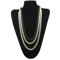 chaîne en forme achat en gros de-3 COULEURS MEN'S GLACÉ COLLIER 1 ROW forme de fleur de HIP HOP BLING CZ MEN CHAIN bijoux collier